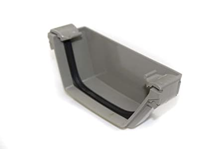 Union WHITE ex-Geberit Terrain Corniche Square Gutter System 2251.5w Jointing Bracket Polypipe