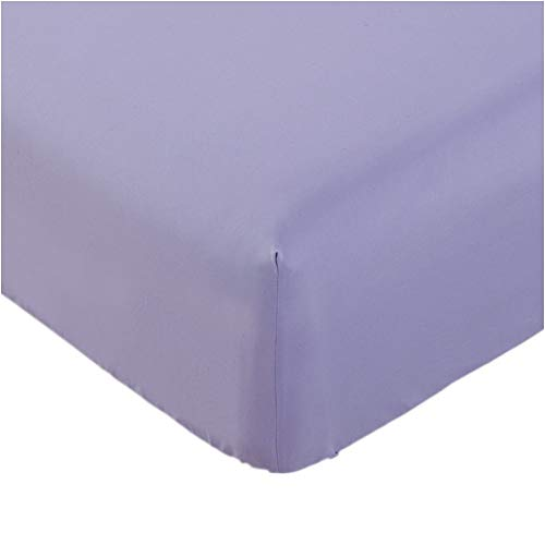 Mellanni Fitted Sheet Twin Violet Brushed Microfiber 1800 Bedding - Wrinkle, Fade, Stain Resistant - Hypoallergenic - (Twin, Violet)