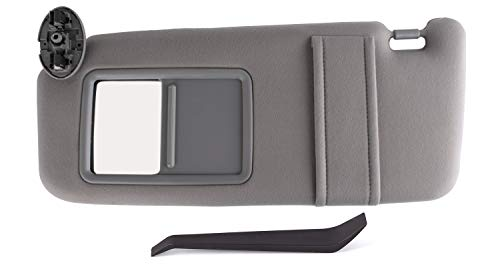 (SouthWit Drivers Left Sun Visor Replaces for 2007 2008 2009 2010 2011 Toyota Camry/Hybrid Sunvisor - Replaces #74320-06780-B0, 74320-33B81-B0-Gray (NO SUNROOF))