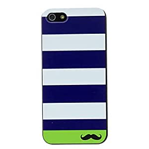 YULIN Stripe and Mustache Pattern PC Hard Case for iPhone 5/5S