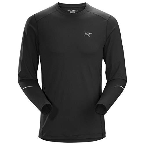- Arc'teryx Motus LS Crew Neck Shirt - Men's Black Small