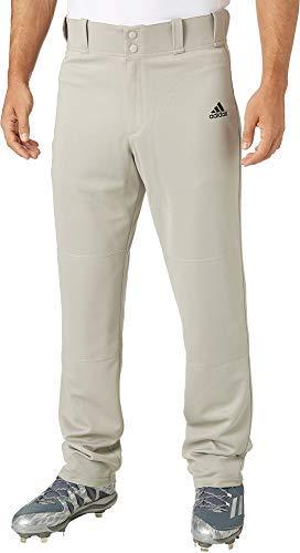 adidas Men's Triple Stripe Open Bottom Baseball Pants (Grey Baseball, Large)