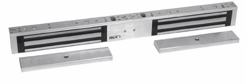 (Rutherford Controls 8372 28 Double Minimag Brushed Anodized Aluminum Electromagnetic Lock, 12/24 VDC (Pack of 1) by Rutherford Controls)