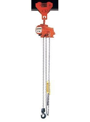 CM 7403A AirStar Spark Resistant Link Chain Air Hoist With Pull Cord Control And Hook Suspension
