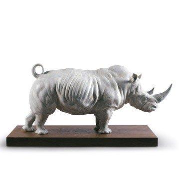 Lladro Animal Figurines In the Wild 9285 WHITE RHINO 01009285
