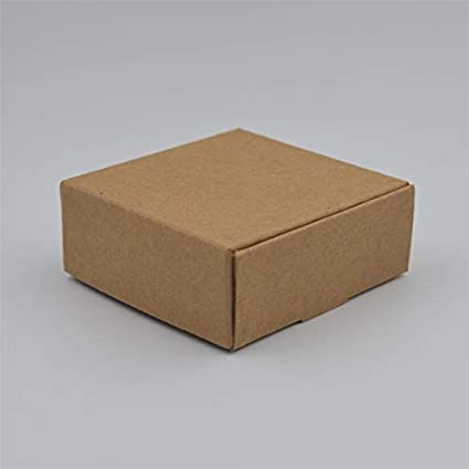 XLPD 10Pcs/Lot,Natural Brown Kraft Paper Box Gift Box for Christmas Party Cajas