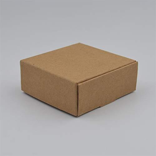 Ranggrgt 10Pcs/Lot Small Kraft Paper Packaging Box,Kraft Cardboard Handmade Soap Candy Box,Personalized Craft Paper Gift Box for Wedding Kraft Paper 7x7x2.2cm