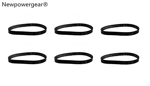 Newpowergear Brand New (6) Energy Upright Vacuum Belts for Sharp EC-12TWC, EC-12TWT2, EC-12TWT6, EC-12TX3, EC-12TX3B, EC-12TX6 by NewPowerGear