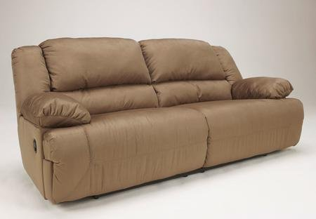 Ashley Furniture Signature Design – Hogan Reclining Sofa – Manual Recliner Couch – Mocha Brown