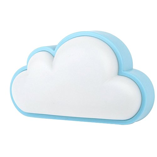 YYYux Cloud Night Light with Light Sensor Plug in, Intelligent Cloud LED Wall Lamp for Baby Nursery Child Room (blue)