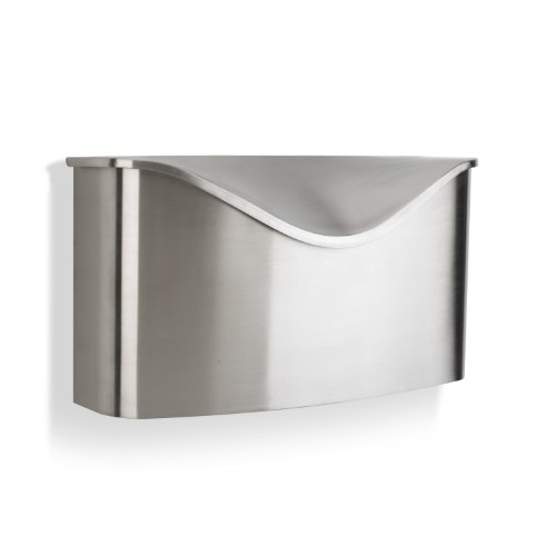 (Umbra Postino Wall-Mount Mailbox, Stainless Steel)