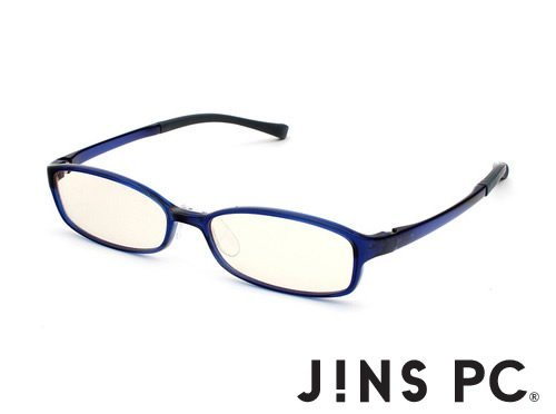 JINS PC Glasses Computer Eyewear Vermilion (Light Brown Lenses, Cuts blue Light by - Jin Glasses