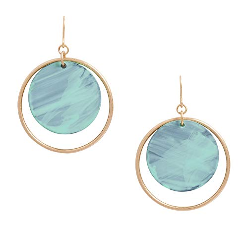 - Maurices Women's Patina Resin Circle Earring Green Combo