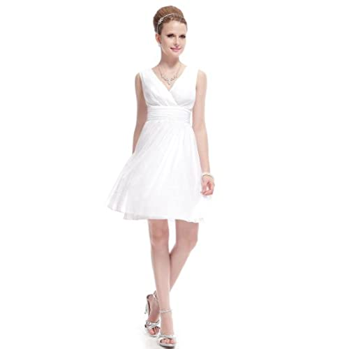 Ever-Pretty HE03989WH06, Ivory, 4US, Ladies Short Wedding Dresses 03989