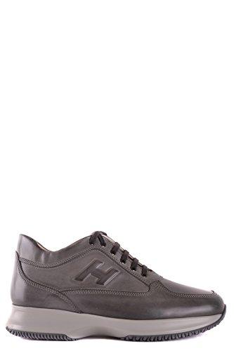 Hogan Herren Mcbi148388o Grijs Leder Sneakers