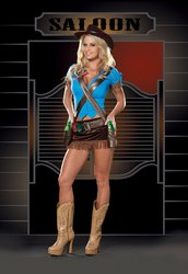 Shoot'em Up Cowgirl Adult Costume - Small