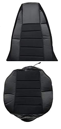 - TC Seat Cover Black/Black Extra Foam for Cushion fits Peterbilt Kenworth Freightliner Western Star Volvo Internacional (Set is for 1 Seat)