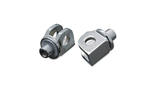 Footpeg Adapters Rear - Kuryakyn 8808 Splined Male Mount Peg Adapters for Front/Rear Footpegs and Floorboards: Can-Am, Honda, Suzuki, Triumph Motorcycles, Chrome, 1 Pair