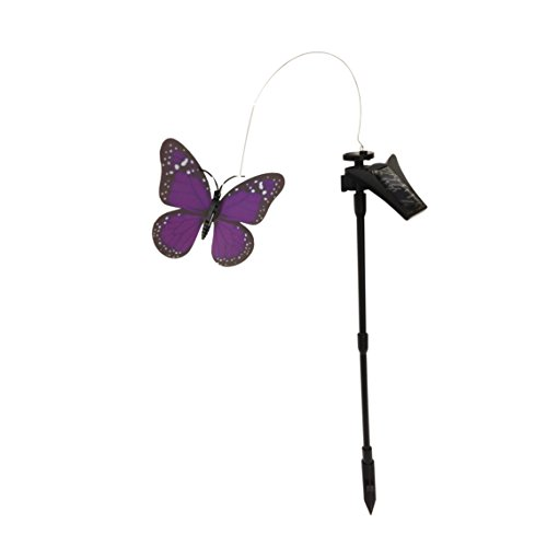 Creative Motion Solar Powered Flickering Monarch Butterfly, Purple