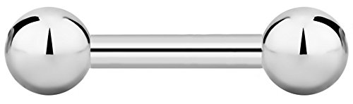 16g 6mm Surgical Steel Straight Barbell Body Piercing Jewelry, 3mm - Barbell 0.25