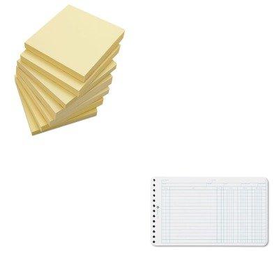 KITUNV35668WLJ75850 - Value Kit - Wilson Jones Extra Sheets for Six-Ring Ledger Binder (WLJ75850) and Universal Standard Self-Stick Notes (UNV35668) ()