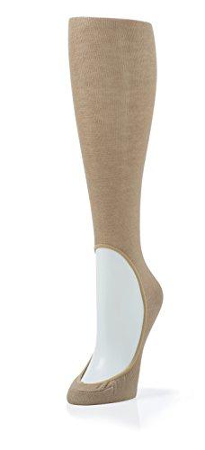 KEYSOCKS Classic Light Fabric Knee High No Show Socks-Nude by KEYSOCKS