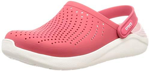 (Crocs LiteRide Clog Shoe, Poppy/White, 7 US Women / 5 US Men M US)
