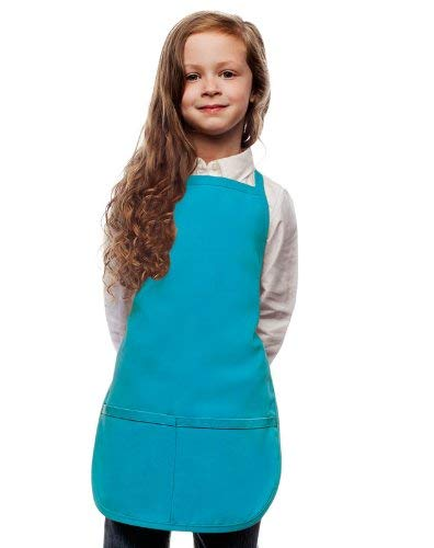VILONG Blue Kids Apron, Medium Bib,2-10 Year Old Children's Smocks for Classroom,Community Event,Crafts and Art Painting Activity,Kitchen Cooking Baking