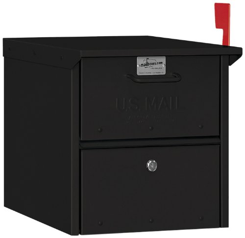 (Salsbury Industries 4325BLK Roadside Mailbox, Black)