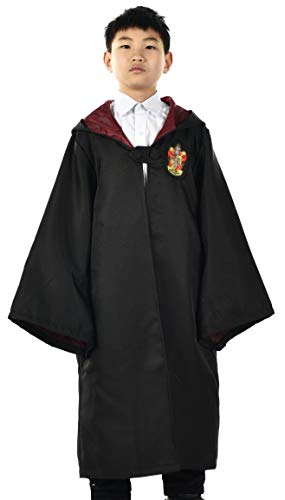 Miliano Embroidered Hooded Cloak Robe Cosplay Costume Kids/Audlt Size]()