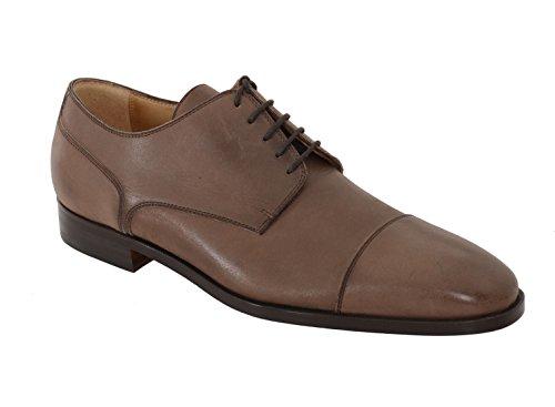 Sutor Mantellassi 9 Brown Leather Derby Blucher Toe Cap Lace Up Dress - Toe Cap Blucher