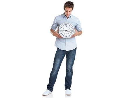 GreatGadgets 1858 Reloj de 24 horas 30,4 x 30,4 x 4,2 cm Plata: Amazon.es: Hogar