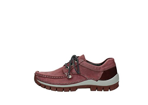 Zapatos 10510 Lace Fly Burgundy nbsp;seamy Nubuck Up comodidad 04734 Wolky wSnFt4qt