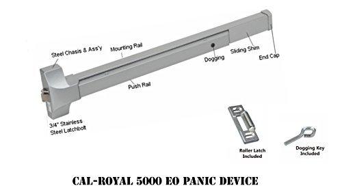 Cal-Royal 36 Push Bar Panic Exit Device, Aluminum by Cal-Royal
