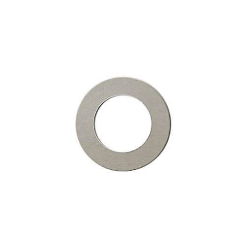 RMP Stamping Blanks, 1 Inch Round Washer With 5/8 Inch Center, Aluminum .063 Inch (14 Gauge) PVC Coating on both sides - 50 Pack