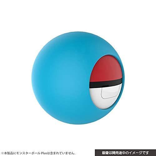(닌텐도 스위치 포켓몬스터) Nintendo Switch CYBER ・ 실리콘 커버 ( SWITCH 몬스터 볼 Plus 용) 네온 블루