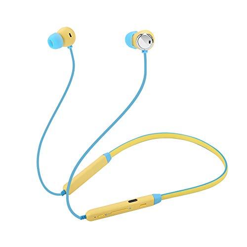 (Ciglow Bluetooth Earphones, Wireless in Ear Magnetic Sport Neck Earbuds HiFi Stereo Sound Noise Cancelling Earphones(Yellow Blue))