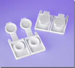 Zink Color Disposable Contact lens case white x50 pc