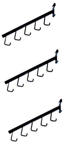 - Waterfall Square Tube 5 Hook For Grid Black Lot of 3