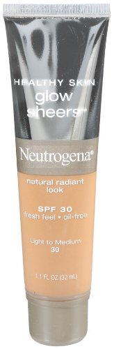 Sheer Illuminating Coverage - Neutrogena Healthy Skin Glow Sheers, SPF 30, Light ho Medium, 1.1 Ounce