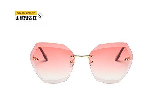 recortar el LSHGYJ GLSYJ sol sol frame marea is cerco moda getting Sin de color de el de señoras océano gafas Gold gafas polvo red a través wwtzxA