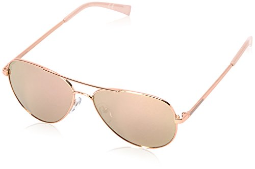 Calvin Klein R169S Aviator Sunglasses, Rose Gold, 58 - Gold Men Sunglasses Rose