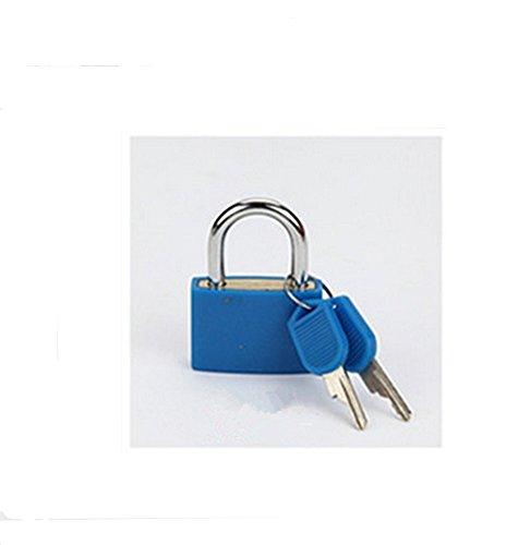 Distinct® 2ST Reise Tiny Koffer Schloss Schubladenschrank Toolbox Padlock Gym Schließfächer Keys (blau)