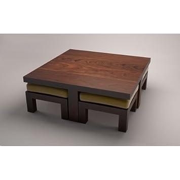 Nidoo Sheesham Wood Coffee Table 4 Seater Green. Nidoo Sheesham Wood Coffee Table 4 Seater Green  Amazon in  Home