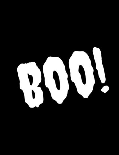 (Boo: Spooky Halloween/Horror Notebook (College Lined/Ruled100 Pages, 7.44x9.69) Funny/Gag Notepad For Horror Movie Lovers/Creepy Frightening Pad Gift)