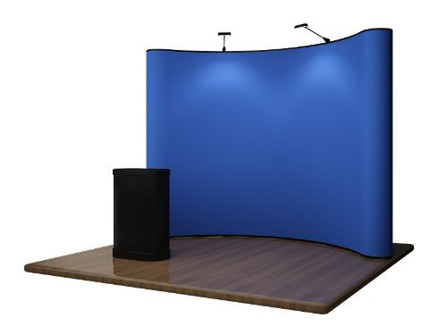 Pop Up Display Trade Show Booth Exhibit - 10ft Blue by Display Overstock