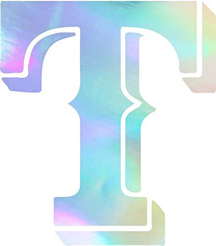 NBFU DECALS MLB Texas Rangers Logo 2 (Hologram) (Set of 2) Premium Waterproof Vinyl Decal Stickers for Laptop Phone Accessory Helmet CAR Window Bumper Mug Tuber Cup Door Wall ()