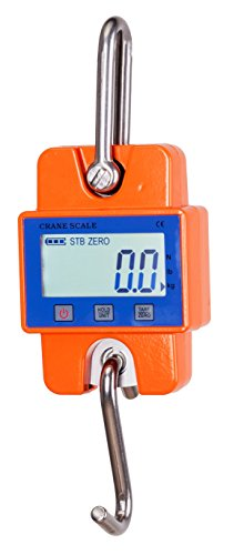 Klau Mini Weighing Scale 600 Lb 300 Kg Digital Hanging Scales Industrial Crane Scale Orange for Home Farm Factory Hunting (Scale Factory)