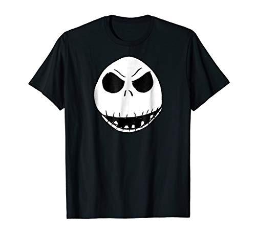 (Mens Disney Jack Skellington Face T-Shirt XL)