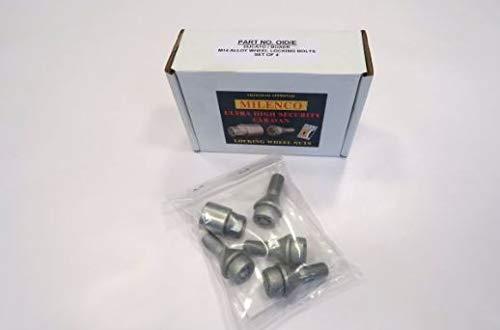 Milenco Locking Wheel Nuts 15 Wheels Set of 4 Complete with 1 Key